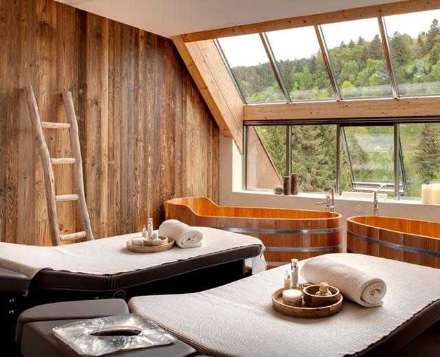 Soin spa dans la suite Forêt