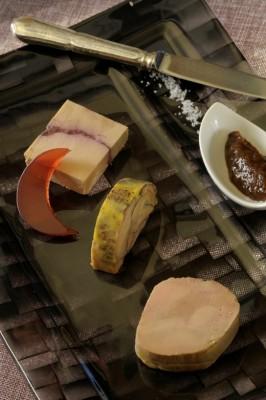 Trilogie des foies gras du restaurant de La Cheneaudière à Colroy La Roche