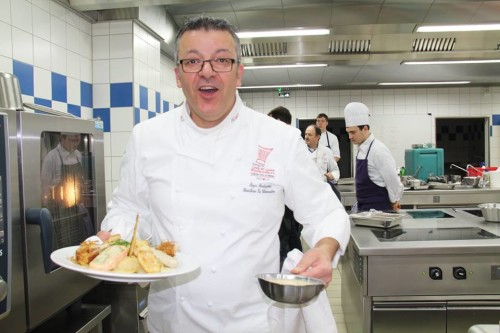 Le chef de La Cheneaudière, Roger Bouhassoun